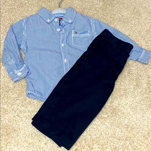 12m Tommy Hilfiger Button Down & Dress Pants NWOT